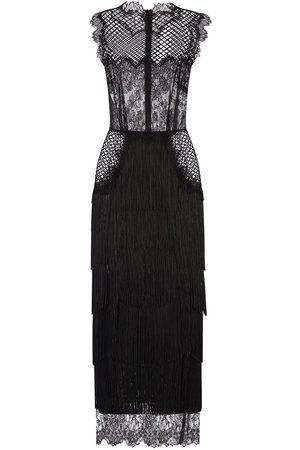 Dolce & Gabbana Fringed lace sheath dress
