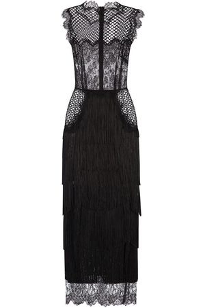 Dolce & Gabbana Sheer-panelled mid-length gown