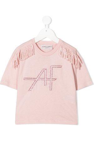 Alberta Ferretti Fringe-trimmed T-shirt