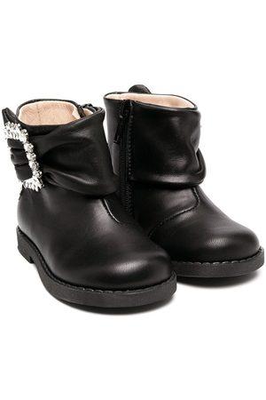 Florens Embellished buckle-detail boots
