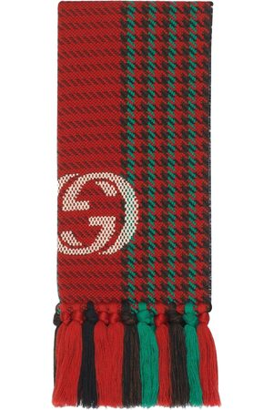 Gucci Interlocking G houndstooth scarf