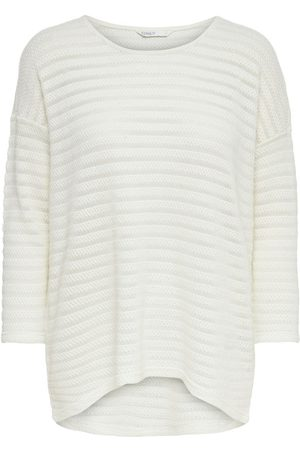 Only Long Detailed Knitted Pullover Dames White