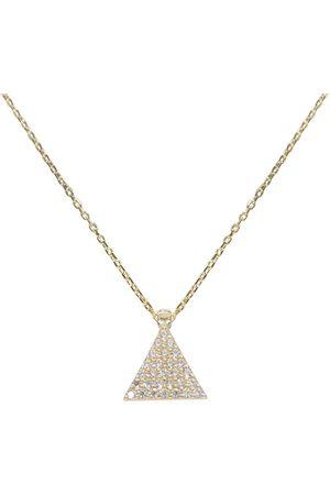 Christian Gouden zirkonia driehoek hanger