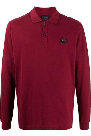 Paul & Shark Logo-patch long sleeved polo shirt