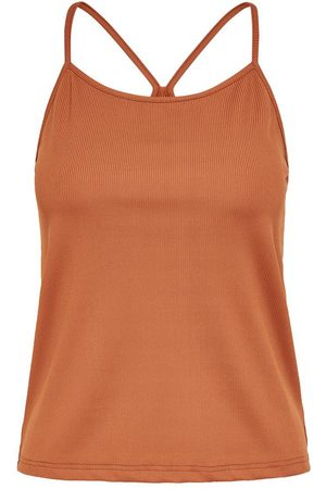 Only Rib Cami Dames Rood