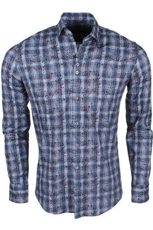 Ferlucci Heren overhemd met trendy design calabria stretch antraciet