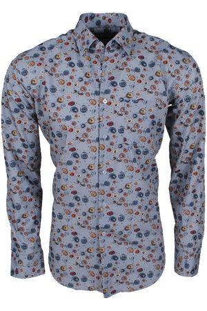 Ferlucci Heren Overhemden - Heren overhemd met trendy design calabria stretch