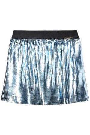 Twin-Set Plisse Laminated Skirt