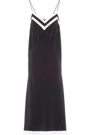 Miu Miu Lace-panelled slip dress