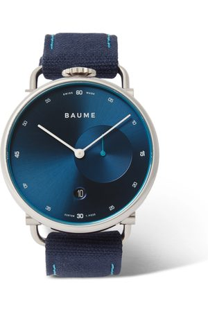 Baume 41mm Stainless Steel and Cotton-Canvas Watch, Ref. No. 10601