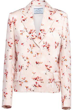 Prada Floral-print blazer jacket