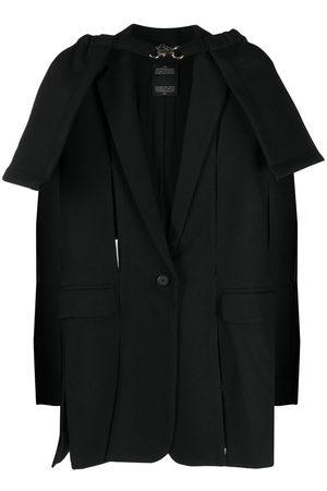 Rokh Cape detail slit blazer