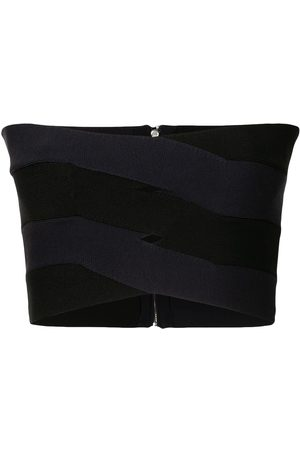 DION LEE Bandage-effect strapless top