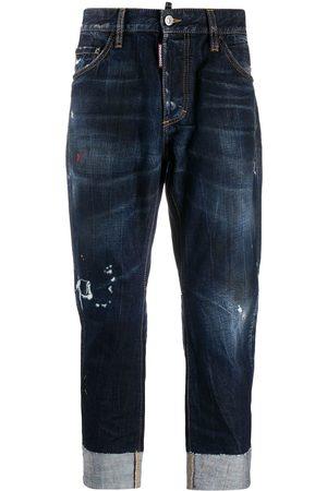 Dsquared2 Distressed turn-up cuff jeans