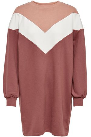 Only Sweat Jurk Dames Rood