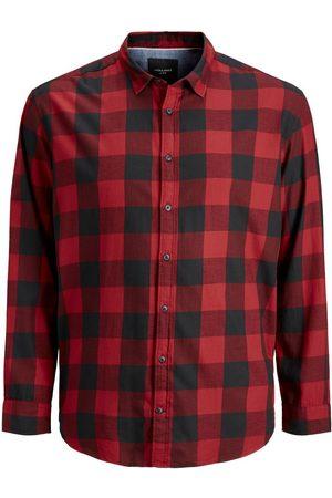 Jack & Jones Ruiten Plus Size Overhemd Heren Rood