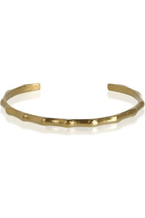 The Other Dames Armbanden - OPEN BAMBOO BRACELET Vintage Gold