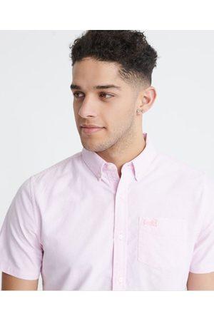 Superdry Heren Overhemden - Classic University Oxford overhemd met korte mouwen
