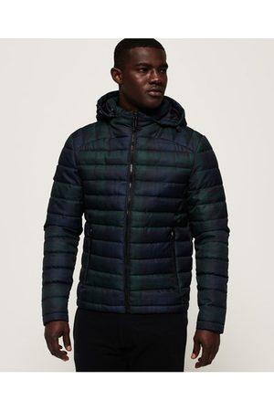 Superdry Heren Donsjassen - Tweed Fuji jas met dubbele rits