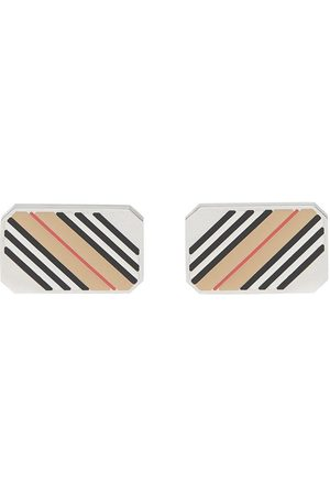Burberry Icon stripe cufflinks