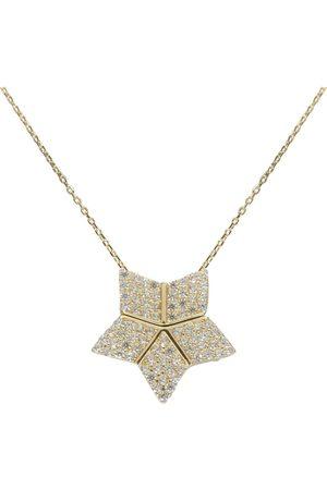 Christian Gouden ster hanger met uitschuifbare hart