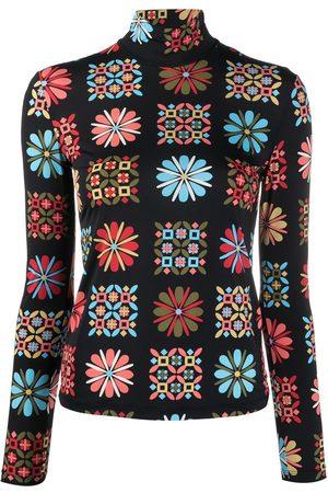 La DoubleJ Floral turtleneck top