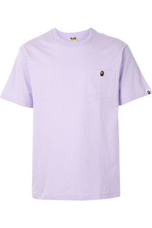 A BATHING APE® Embroidered ape face cotton T-shirt