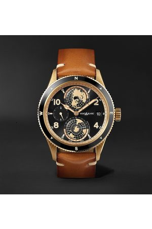 Mont Blanc 1858 Geosphere Limited Edition Automatic 42mm Bronze, Ceramic and Leather Watch, Ref. No. 119347