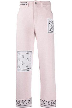 Barrie Cashmere bandana boyfriend-cut trousers