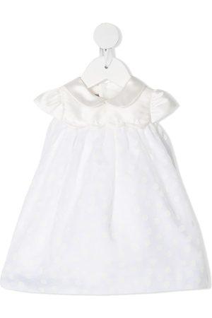 LA STUPENDERIA Polka dot christening gown