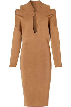 Burberry Cut-out detail knitted dress