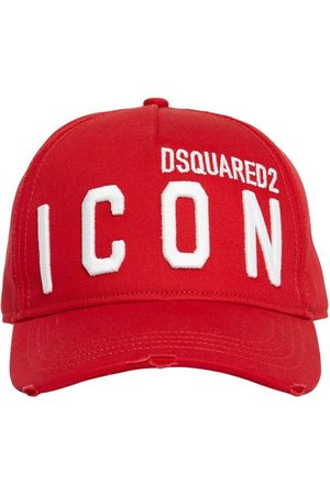 Dsquared2 Heren Petten - Icon Embroidery Cotton Gabardine Cap