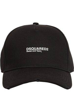 Dsquared2 Logo Embroidered Cotton Gabardine Cap