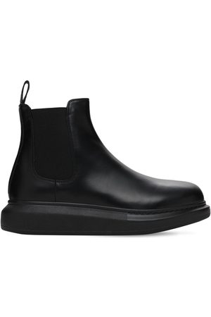 Alexander McQueen 45mm Hybrid Leather Slip-on Boots