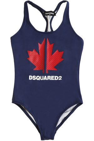 Dsquared2 Logo Print Lycra One Piece Swimsuit