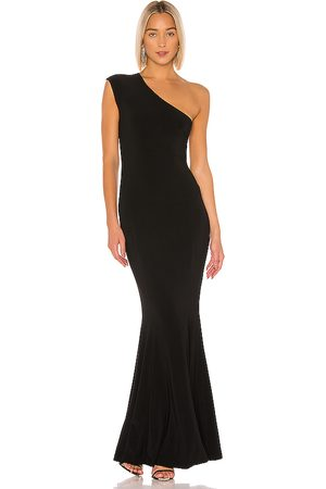 Norma Kamali One Shoulder Fishtail Gown in