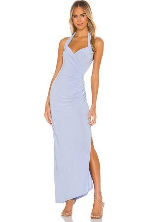 Norma Kamali X REVOLVE Halter Sweetheart Side Drape Gown in