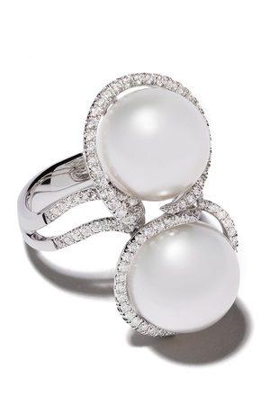 Yoko London 18kt white gold Mayfair South Sea pearl and diamond ring