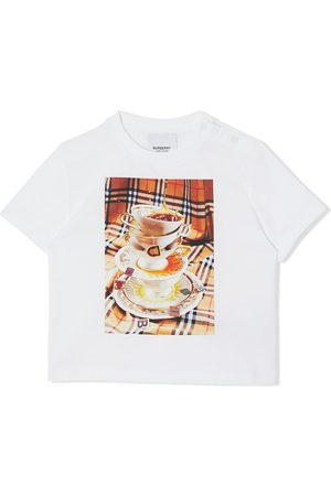 Burberry Teacup-print cotton T-shirt