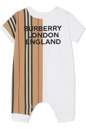 Burberry Icon stripe panel playsuit