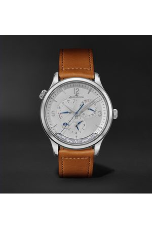 Jaeger-LeCoultre Master Control Geographic Automatic 40mm Stainless Steel and Leather Watch, Ref. No. 4128420