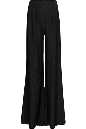 GALVAN Dames Wijde broeken - Piazza high-rise wide-leg pants
