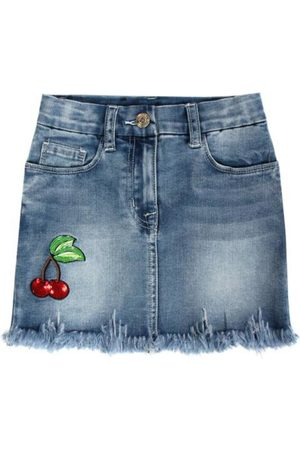 MONNALISA Cherry Jeans Skirt