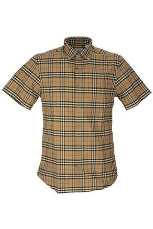 Burberry Short-sleeve Small Scale Check Stretch Cotton Shirt