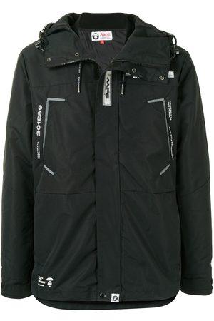 AAPE BY *A BATHING APE® Logo-print embellished parka coat