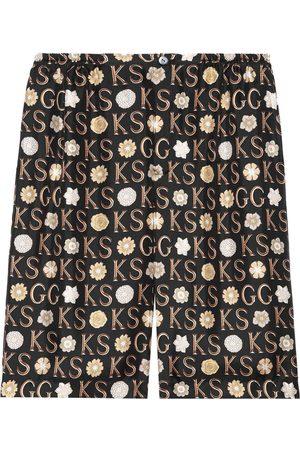 Gucci X Ken Scott knee-length shorts