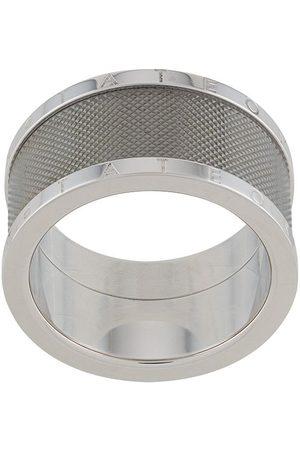 Tateossian Classic triple texture ring