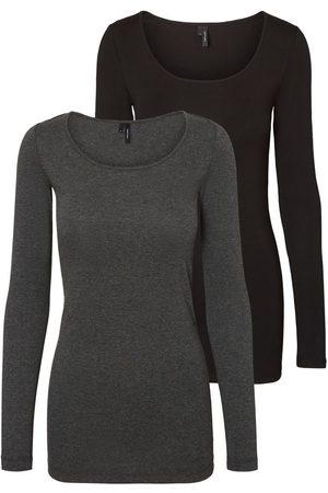 Vero Moda 2-pack Shirt Met Lange Mouwen Dames Grijs