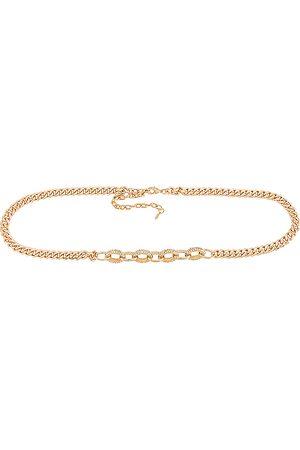 Ettika Dames Riemen - Crystal Stud Chain Belt in
