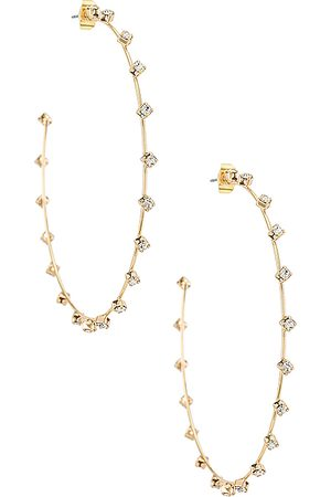 Ettika Rhinestone Hoop Earrings in